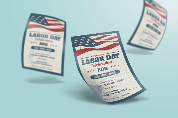 PSD Labor Day Poster or Flyer Templates