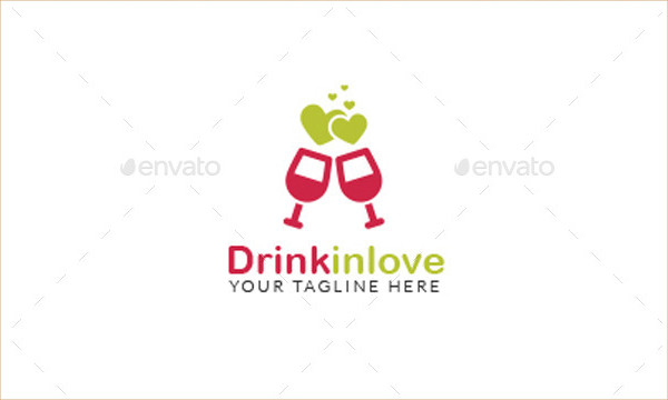 Love Drink Logo Template