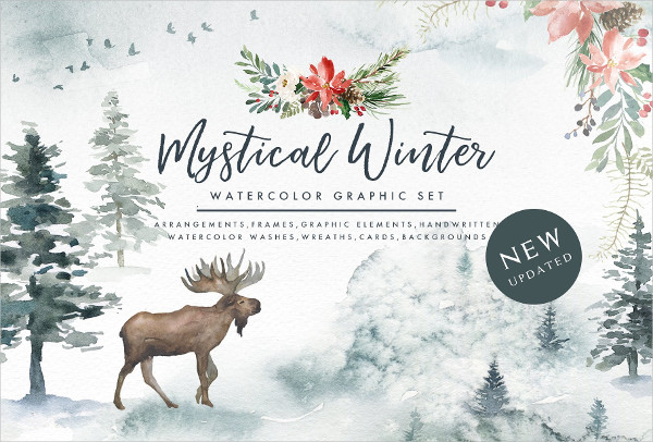 Mystical Winter Graphic Set