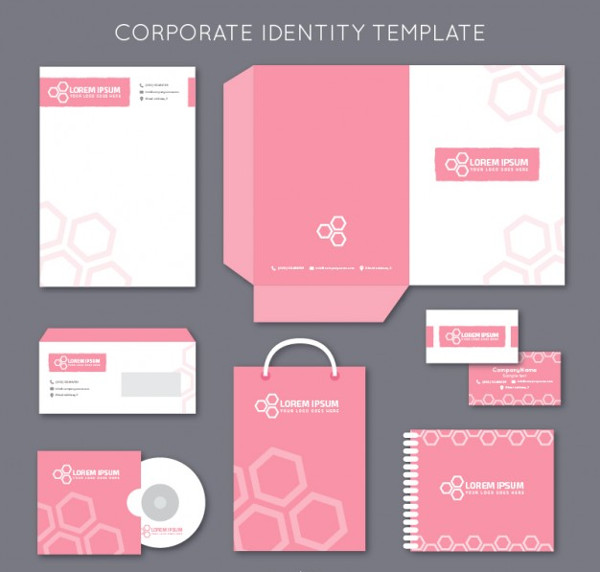 Pink Corporate Identity Template Free Download