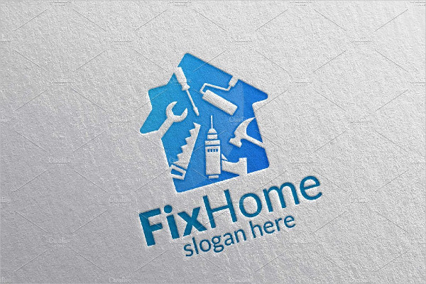 Real Estate or Fix Home Logo Template