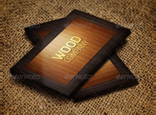 Stylish Wooden Business Card Design
