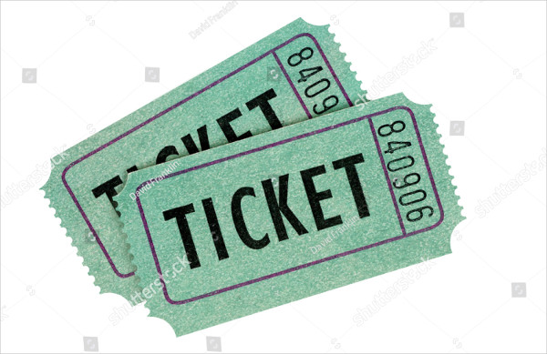 Two Green Movie Raffle Tickets