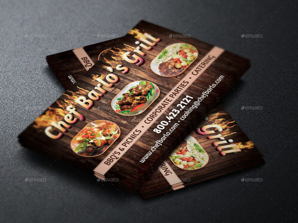 Unique Catering Business Card Templates