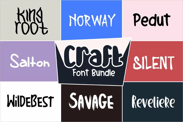 10 Simple and Cute Fonts Bundle