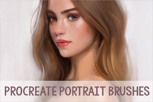 20 Portrait Brushes for iPad Pro and Procreate App