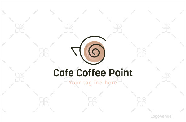 Cafe Coffee Point Logo Template