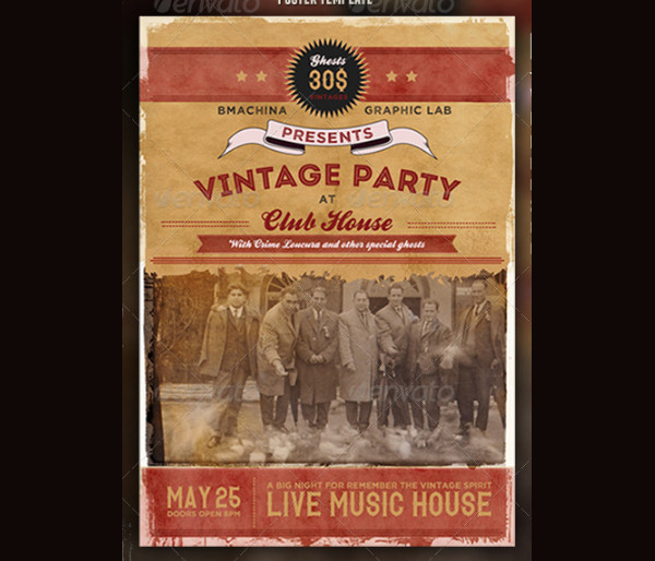 Customisable Vintage Poster Template