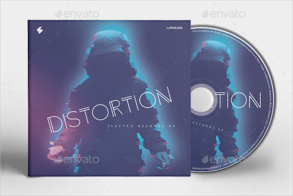 Editable CD Album Cover Artwork Template