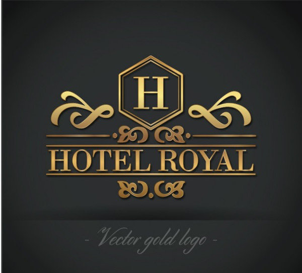 Free Golden Hotel Royal Logo Download