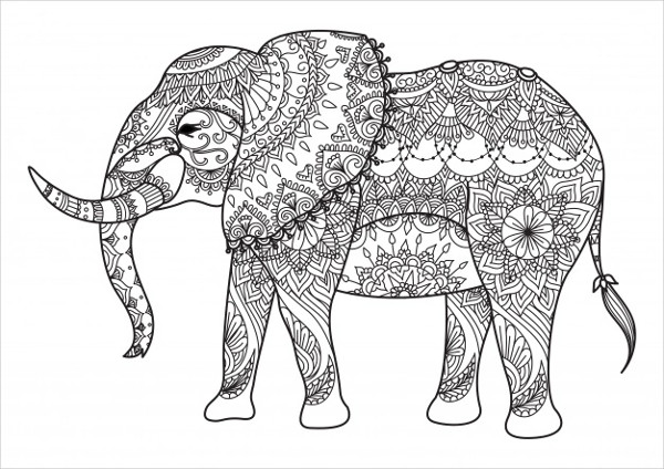 Hand Drawn Elephant Background Free Download