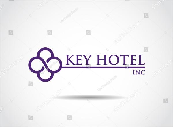 Key Hotel Vector Logo Template