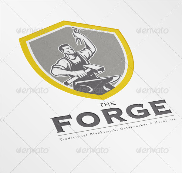 The Forge Traditional Blacksmith Logo