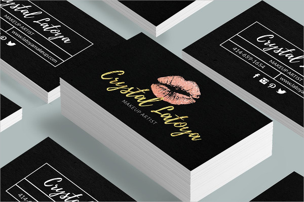 Unique Makeup Artist Business Card Design