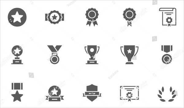 Unique Award Vector Icons