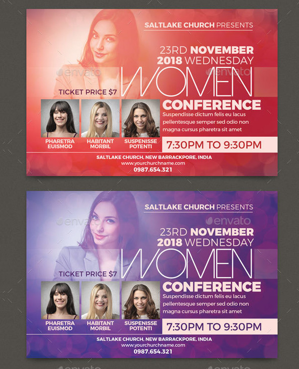 Printable Women's Conference Flyer