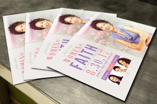 Women Of Faith Flyer PSD