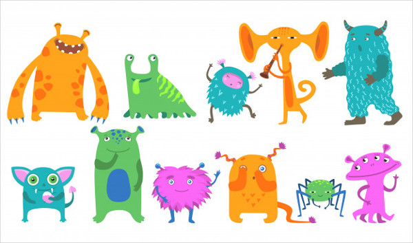 Cartoon Monsters Icon Kit Free Download
