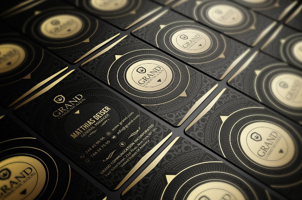Classy Gold And Black Business Card