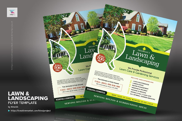 Custom Lawn & Landscaping Flyer Templates