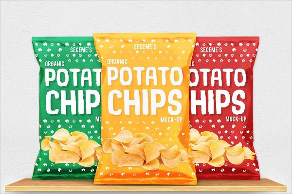 Custom Chips Bag Mock-up Design