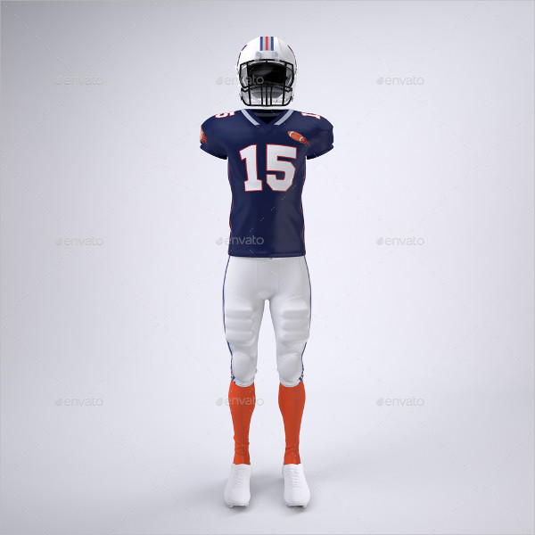 Football Player's Uniform Mock-Up