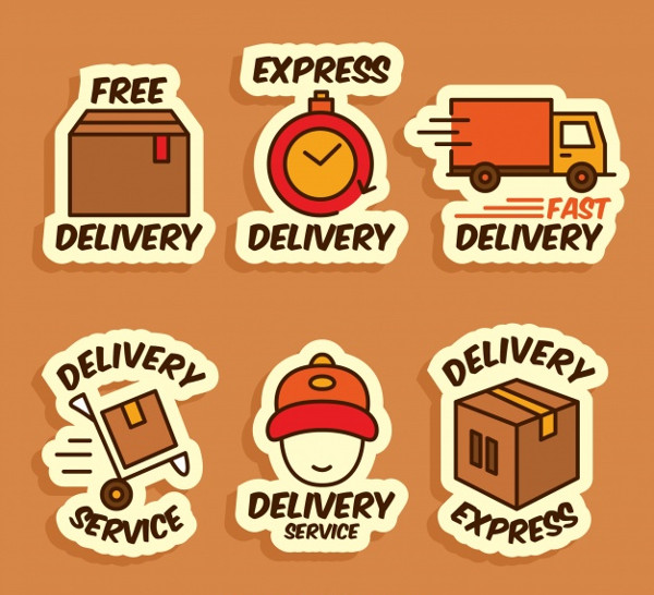 Fun Set of Delivery Labels Free Download