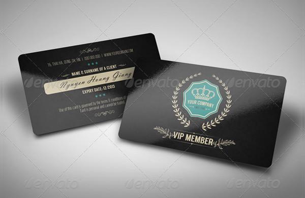 Luxury Retro Membership VIP Card