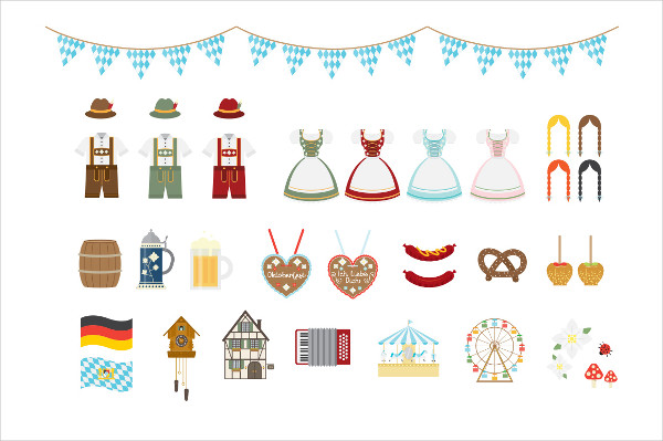 Oktoberfest Vector Icon Collection