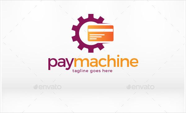 Pay Machine PSD Logo Design