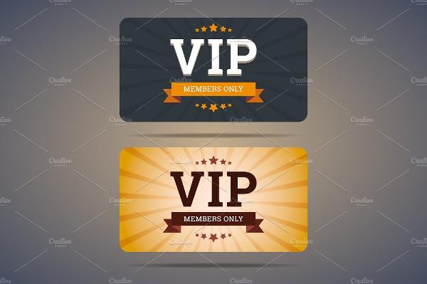 Online VIP Club Card Design