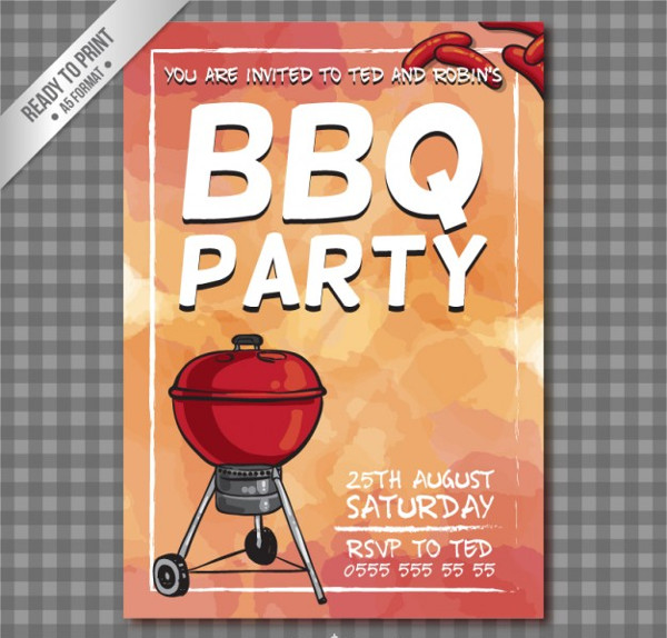 BBQ Party Flyer Free Download