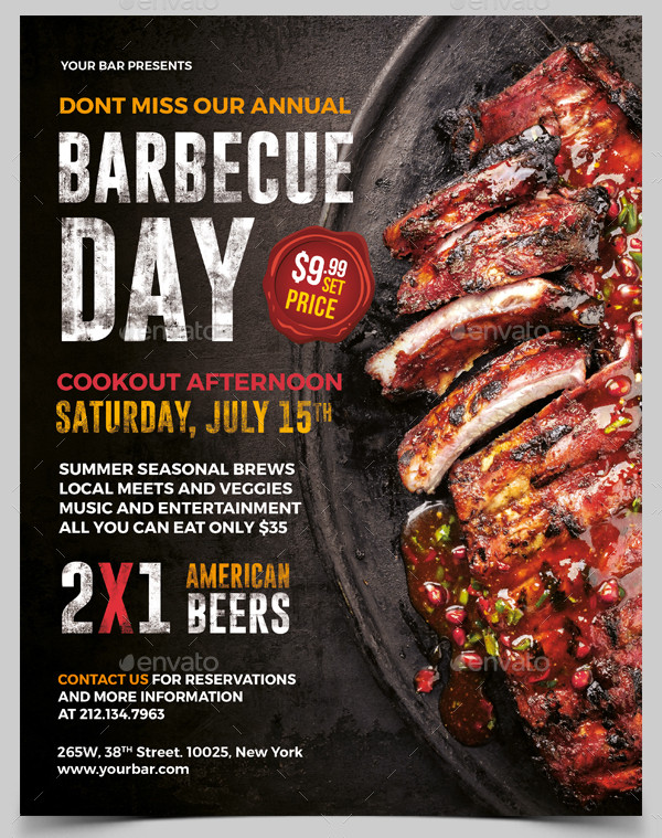Fully Editable BBQ Weekend Party Flyer