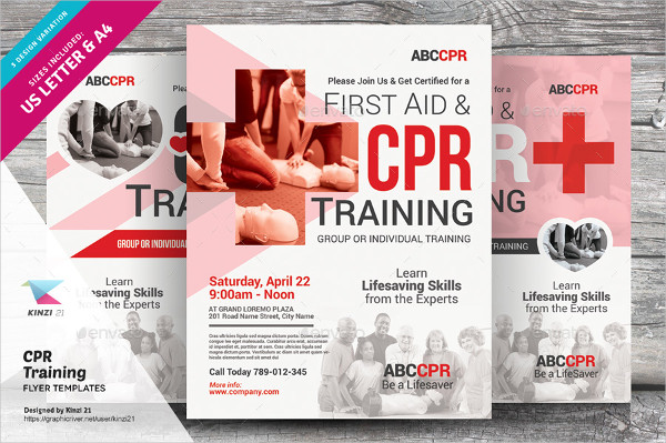 Perfect CPR Training Flyers