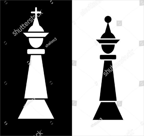 Chess Flyer in Black & White Design