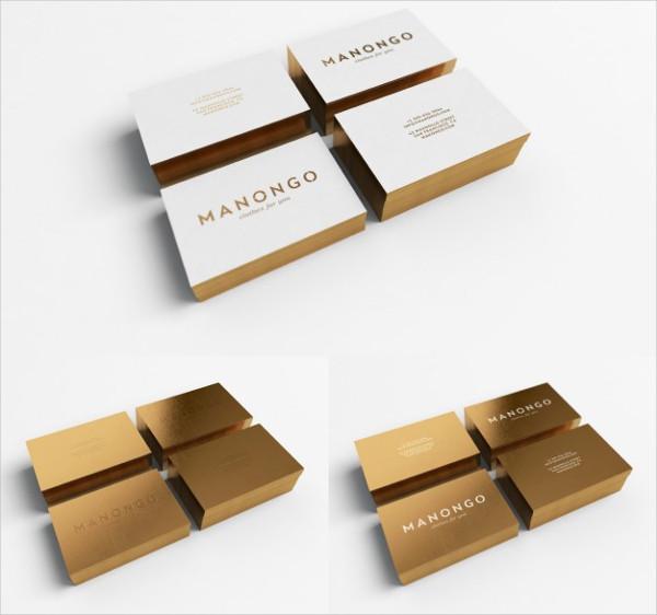 Golden Business Card Design Free PSD