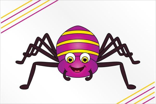 Happy Cartoon Spider Logo Free