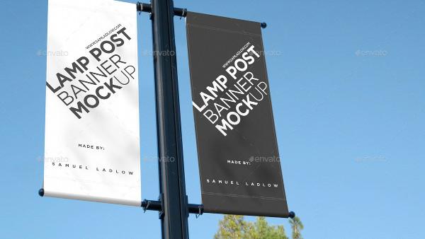 Lamp Post Banner Mockup Design