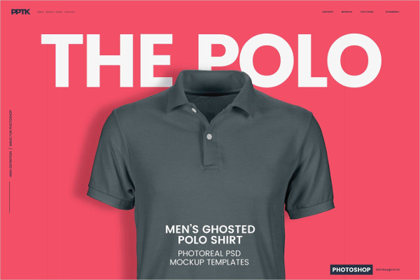 Men's Ghosted Polo Shirt Mockups