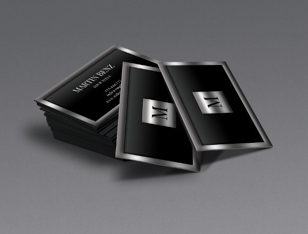Metal Finish 3D Looks Business Card