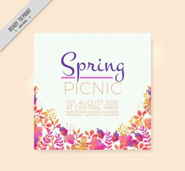 Spring Picnic Flyer Free Download