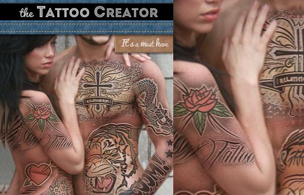 Tattoo Creator Photoshop Mock-up