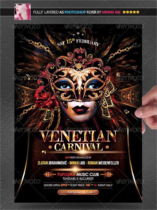 Venice Carnival PSD Poster Template