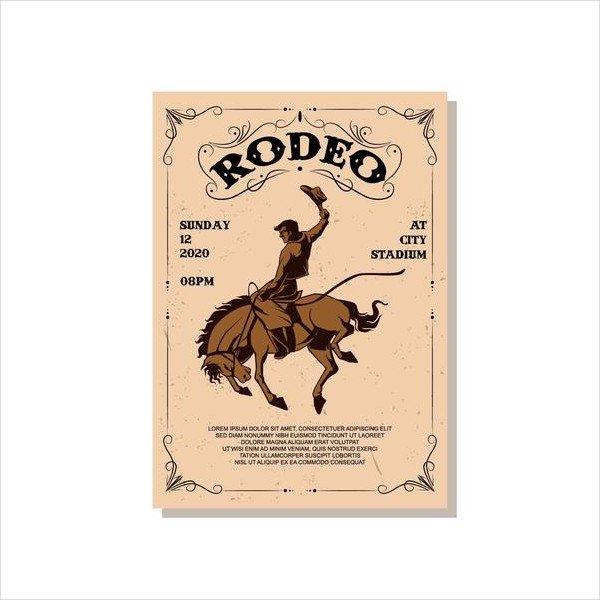 Vintage Horse Flyer Template Free Download