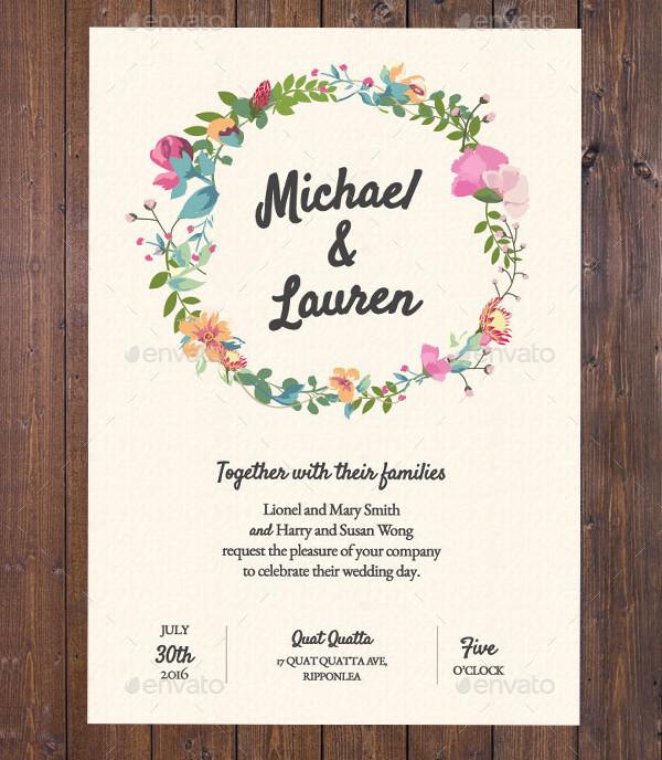 Wedding Invitation Garden Rustic Theme