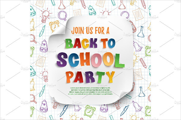 Back To School Party Poster Design