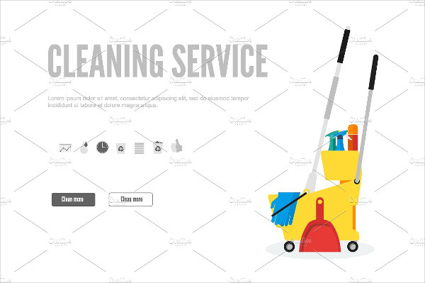 Banner Template for Cleaning Company