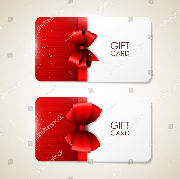 Bright Vector Holiday Gift Cards Design