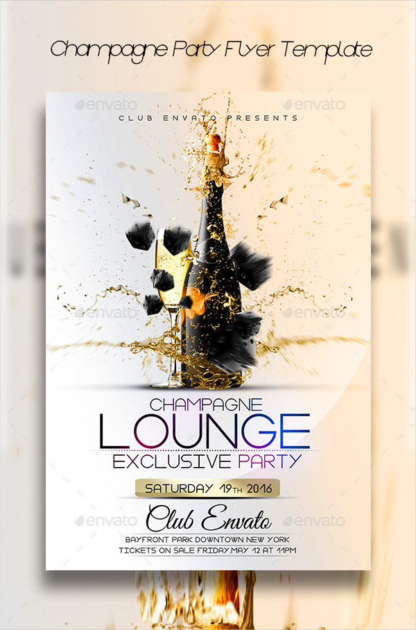 Best Champagne Party Flyer Design