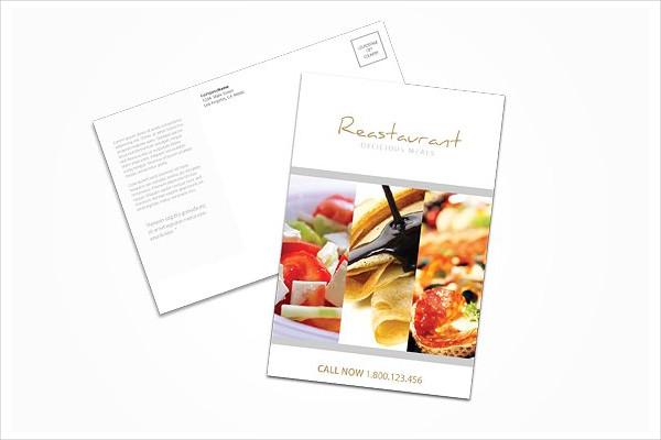 Creative Restaurant Postcard